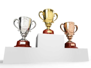 Awards for First, Second and Third Place